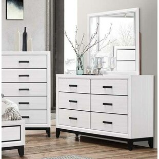 Wallis 6 Drawer Double Dresser with Mirror