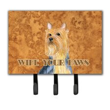 Silky Terrier Wipe Your Paws Leash Holder and Key Hook by Caroline's Treasures