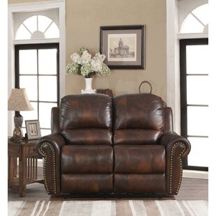 Brode Power Leather Reclining Loveseat by Darby Home Co Today Sale Only