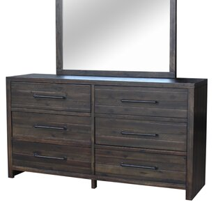Camilo 6 Drawer Double Dresser with Mirror by Union Rustic