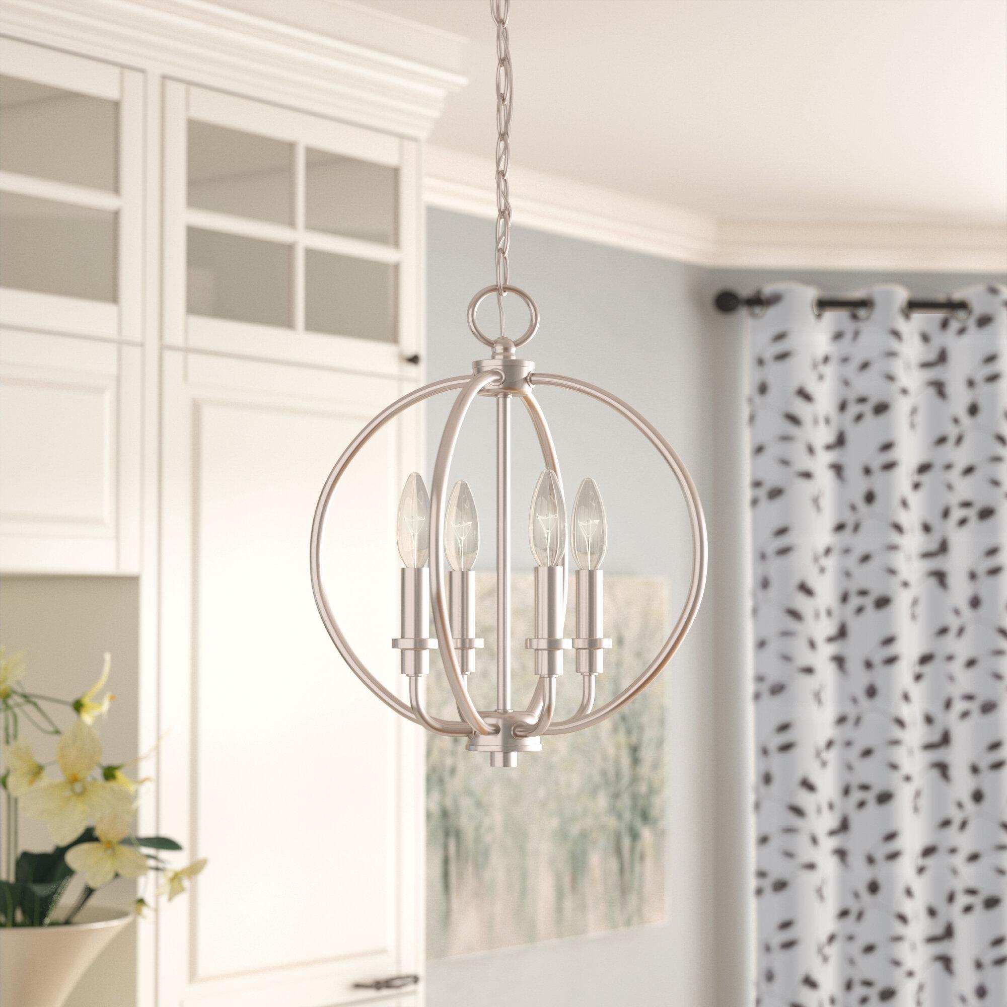 Laurel Foundry Modern Farmhouse Naomie 4 Light Globe Chandelier Reviews Wayfair