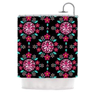 Dahlia Mandala by Anneline Sophia Single Shower Curtain