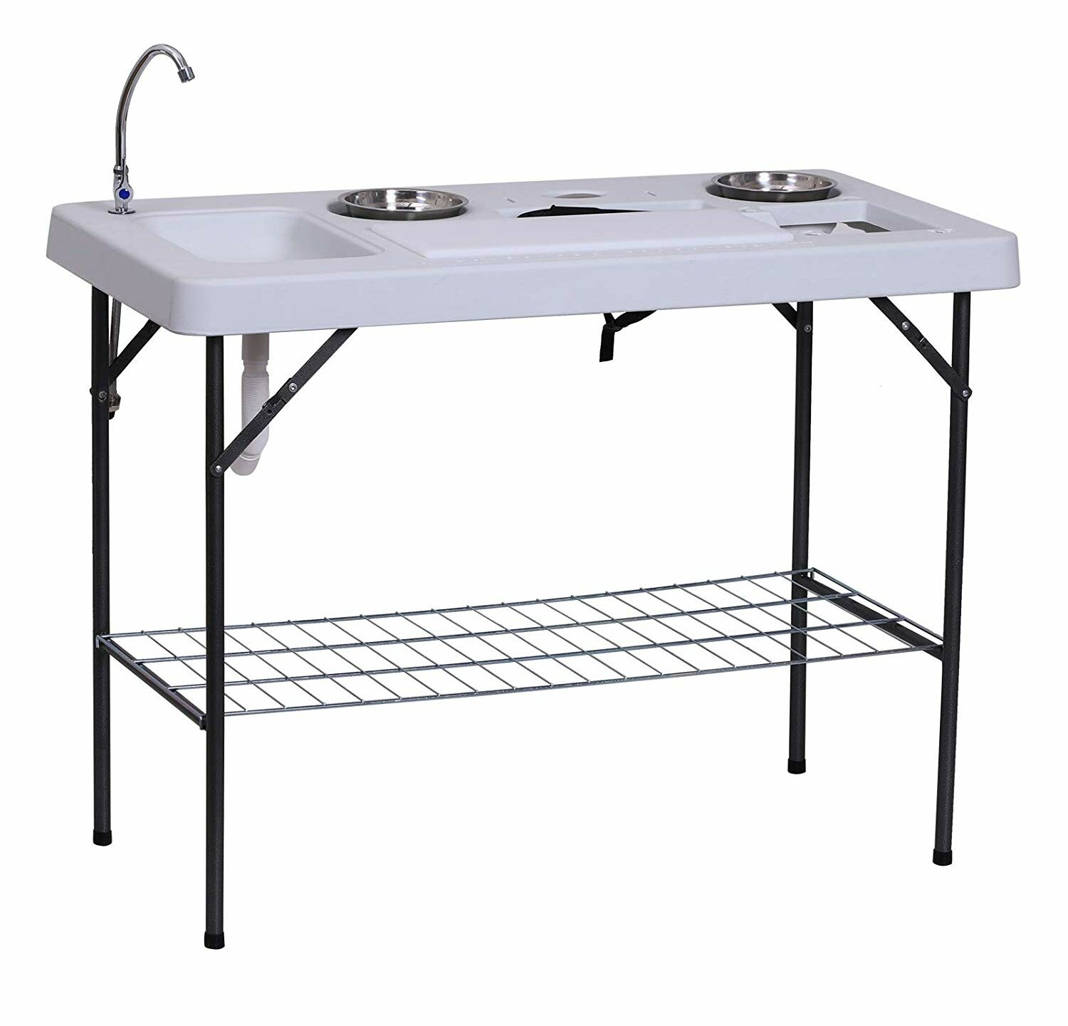 Folding Fish Cleaning Table Free Standing Sink