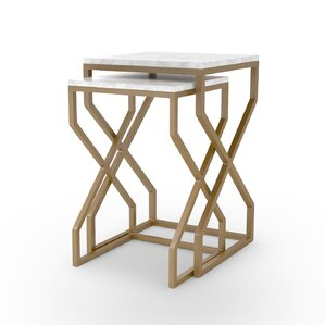 Agate Cove 2 Piece Nesting Tables by Bungalo..