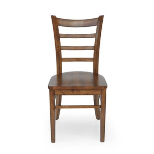 Ladder Back Side Chair in Brown Set of 6