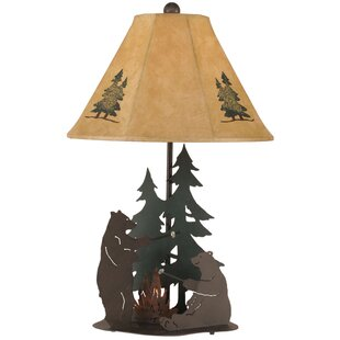 Rustic Living Iron Bears Roasting Marshmallows 28.5 Table Lamp