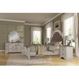 Lilia Oak Wood Standard 4 Piece Bedroom Set by One Allium Way®