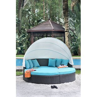 Rosecliff Heights Linck Canopy Patio Daybed with Cushions