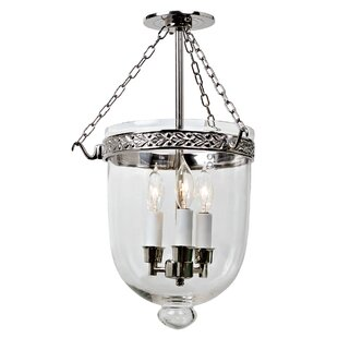 Geralynn Bell 3-Light Semi Flush Mount by Darby Home Co