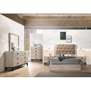 Victory 6 Drawer Double Dresser with Mirror by Ebern Designs