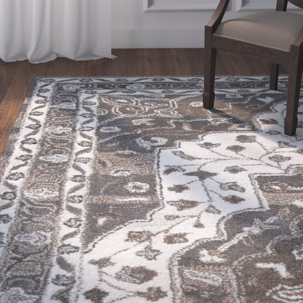 Astoria Grand Byron Hand Tufted Wool Brown Area Rug Wayfair