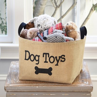 Dog Toys  Burlap Storage Basket.   & asouthernbucket