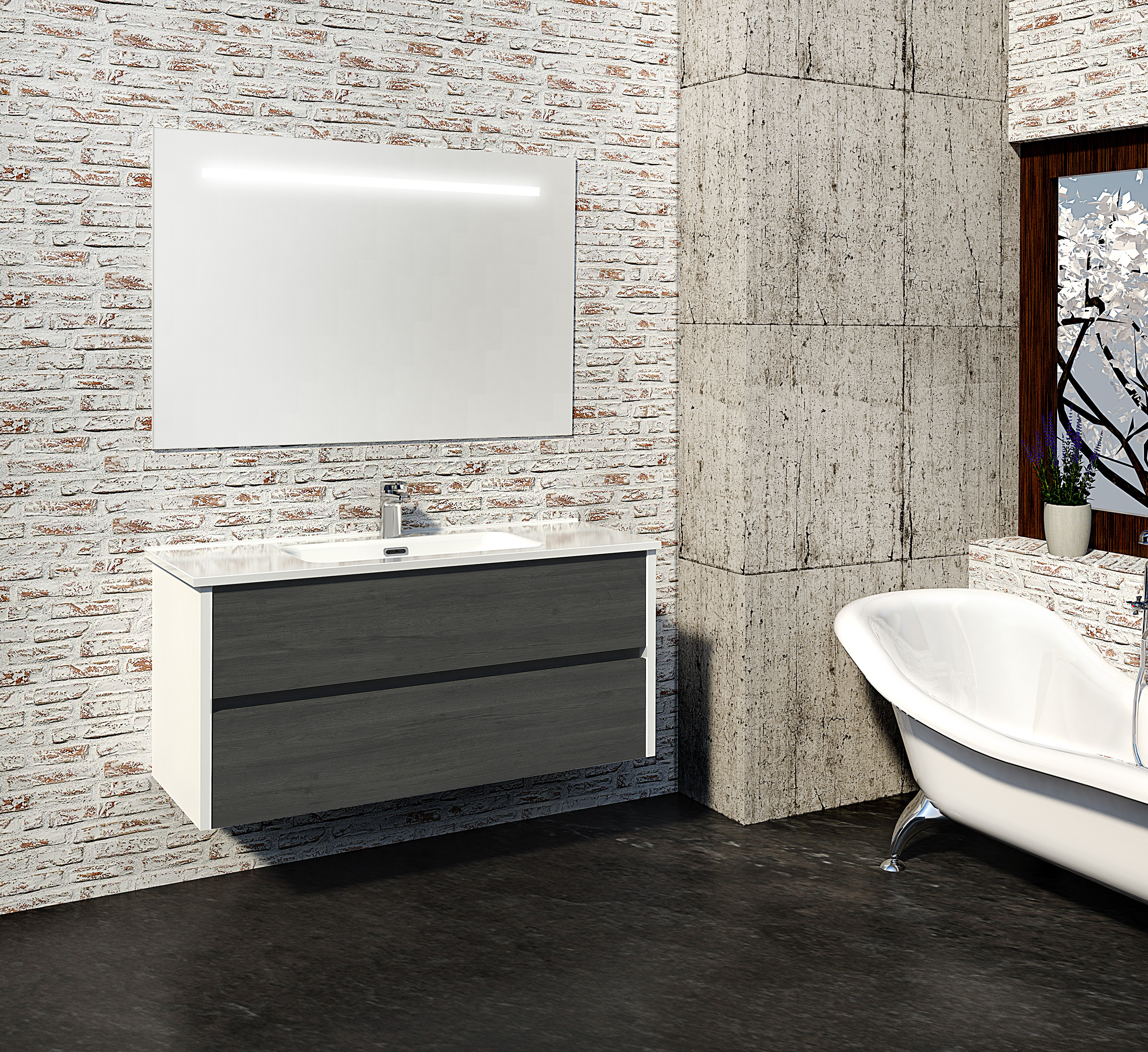 Adeliza 10mm Wall Mounted Vanity Unit