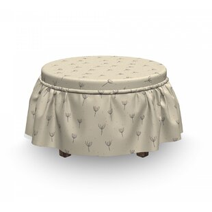 Pollination in Springtime Ottoman Slipcover (Set of 2) by East Urban Home