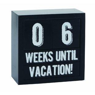 Timberville 5 Piece Wood Spring Perpetual Week Countdown Vacation Calendar Set