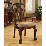 Baylee Queen Anne Back Arm Chair in Brown Cherry (Set of 2) by Astoria Grand