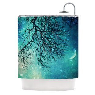Winter Moon Polyester Single Shower Curtain