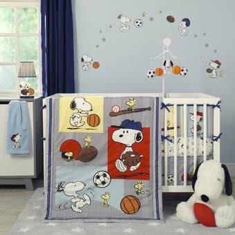 Peanuts Snoopy/'s Campout Peanuts 4 Piece Crib Bedding Set