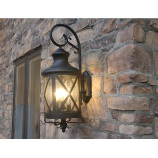 Gracie Oaks Luqi 3-Light Outdoor Wall Lantern
