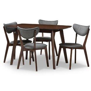 George Oliver Chapa Upholstered 5-Piece Dining Set