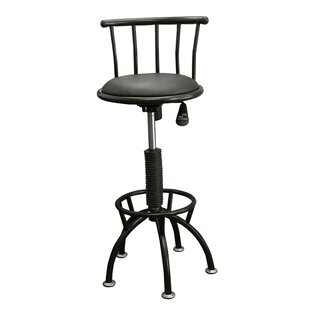 Moline Adjustable Height Swivel Bar Stool Brayden Studio