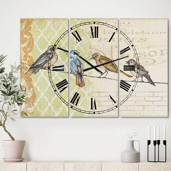 East Urban Home Oversized People And Time Acrylic Watercolors Wall Clock Wayfair