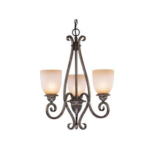 Fleur De Lis Living Brosnan 3-Light Shaded Chandelier