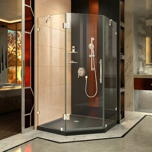 Prism Lux 40 x 74.75 Neo-Angle Hinged Shower Enclosure with Base Included ByDreamLine