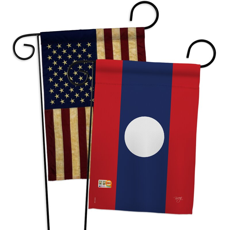 Breeze Decor Laos Impressions Decorative 2 Sided Polyester 19 X 13 In 2 Piece Garden Flag Set Wayfair