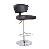 Sarthe Adjustable Height Bar Stool by Orren Ellis