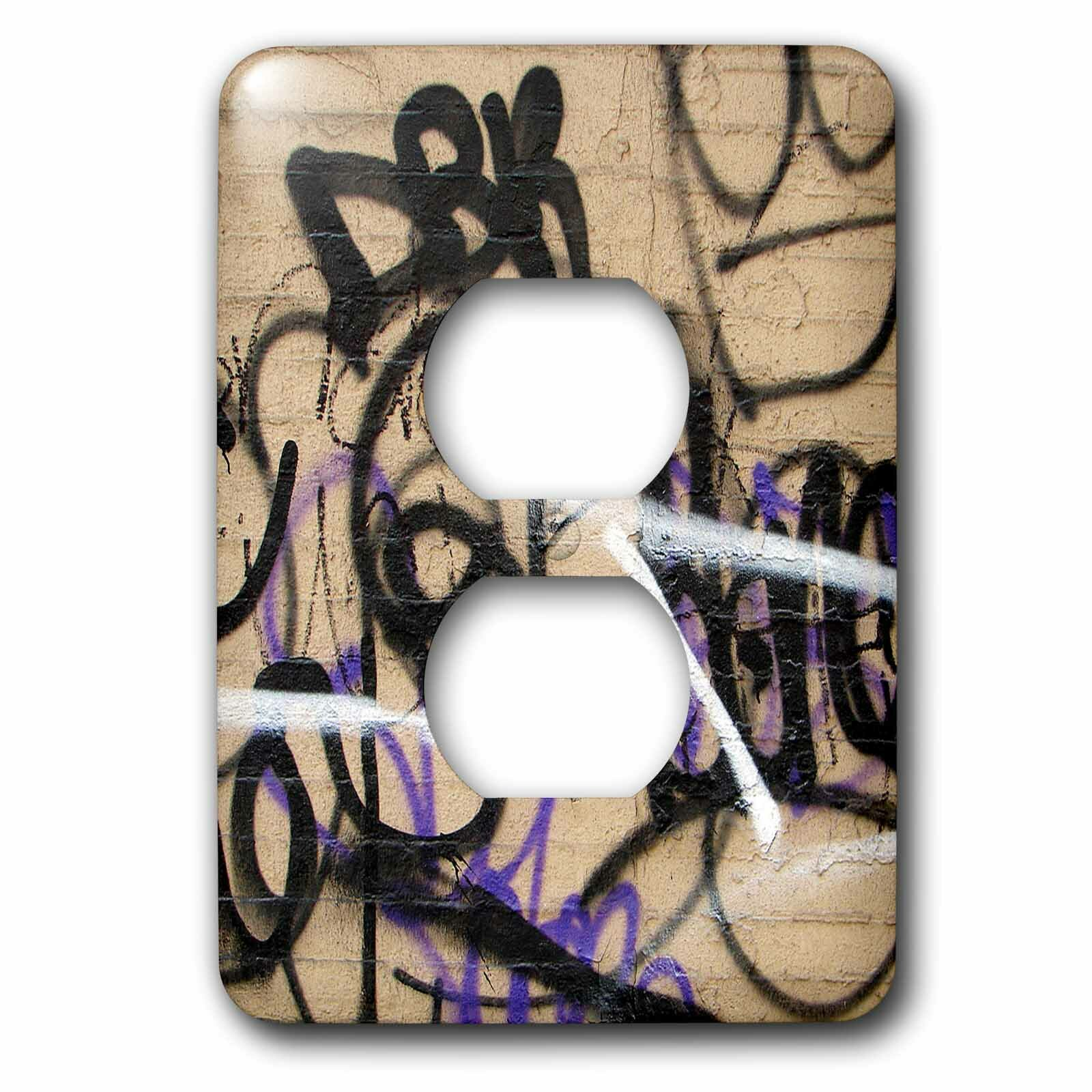 3drose Graffiti 1 Gang Duplex Outlet Wall Plate Wayfair