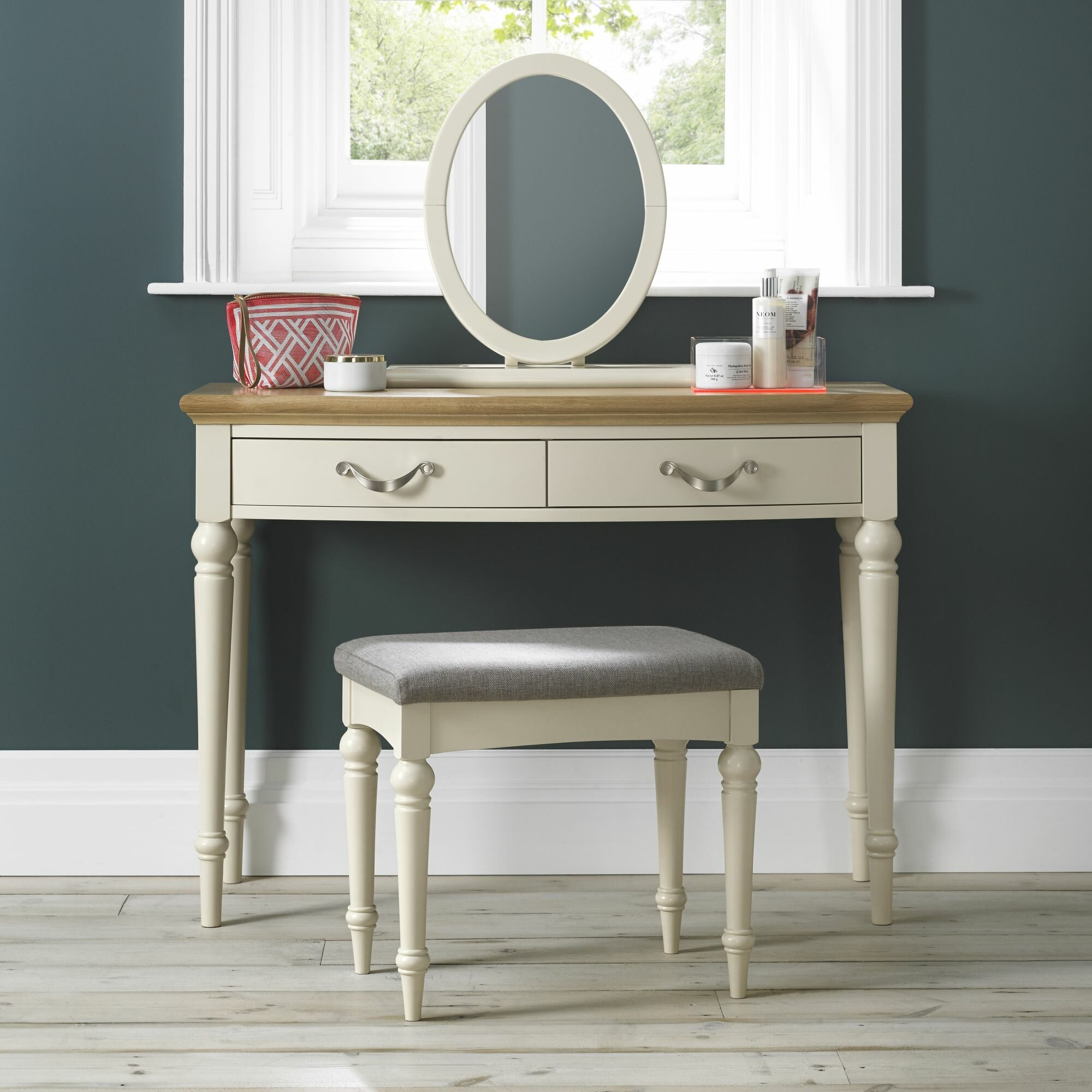 Rosecliff Heights Acklins Dressing Table Set With Mirror & Reviews
