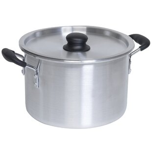 Aluminum Soft Touch Handles Stock Pot with Lid