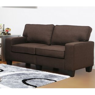 Charlee Linen Modern Living Room Loveseat
