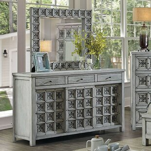 Cali 3 Drawer Double Dresser With Mirror by Rosdorf Park Wonderful