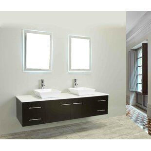 Vinit 60 Wall-Mounted Double Bathroom Vanity Set by Orren Ellis