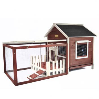 Hollowell White Picket Fence Rabbit Hutch