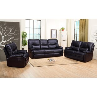 Douthit Reclining 3 Piece Living Room Set by Red Barrel Studio