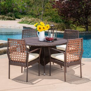 Parry 5 Piece Dining Set with Cushions by..