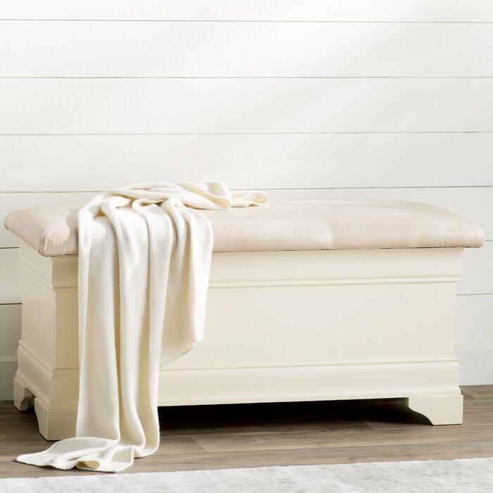 Lark Manor Lisle Wood Storage Bench & Reviews   Wayfair.ca