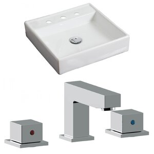 american 18 wall mount bathroom sink with overflow