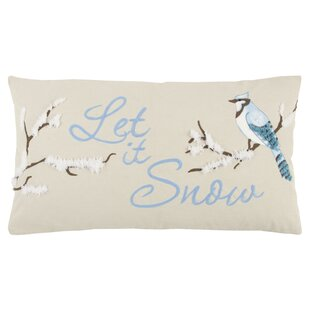 Let It Snow 100% Cotton Throw Pillow