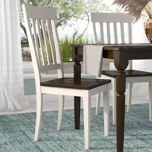 Tamiami Slatback Solid Wood Dining Chair (Set of 2) Beachcrest Home