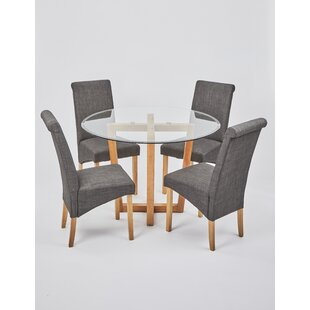 Hartwell Dining Set With 4 Chairs By Brayden Studio