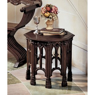 Gothic Revival Octagonal End Table (Set of 2)