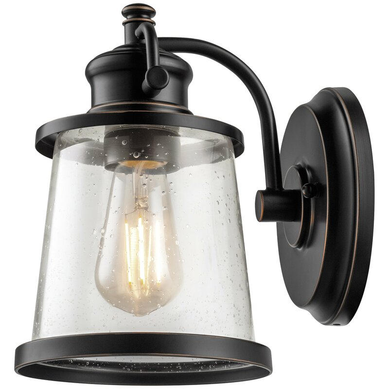 Globe Electric Company Charlie 1-Light Outdoor Wall Sconce ...
