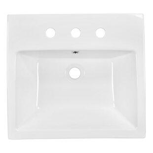 Great Price Ceramic Rectangular Vessel Bathroom Sink with Overflow ByRoyal Purple Bath Kitchen