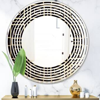 East Urban Home Collection Of Paint Splash Watercolor Drops Wall Mirror Wayfair
