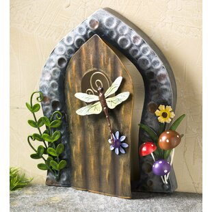 Miniature Dragonfly Door Fairy Garden by Plow & Hearth