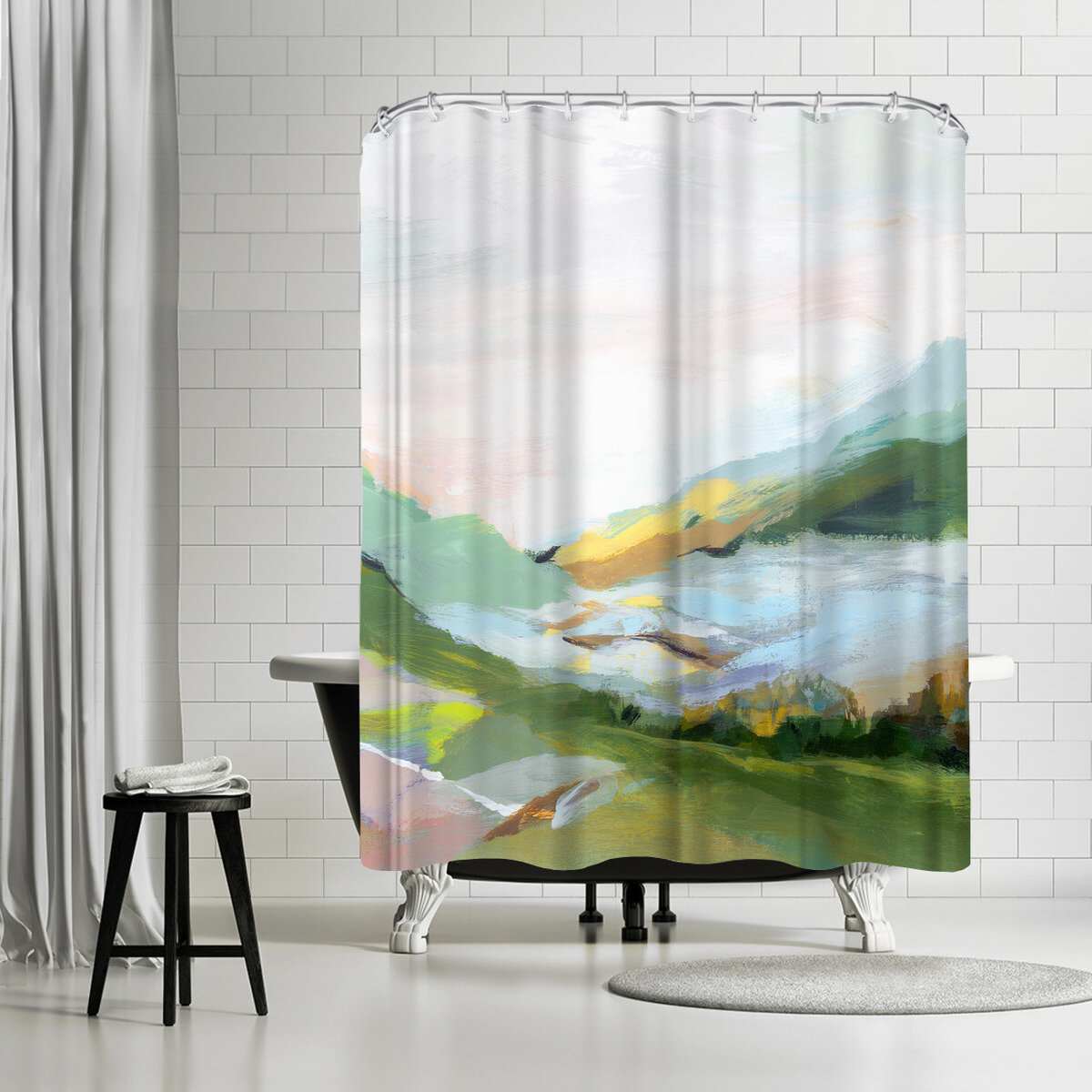 East Urban Home Pi Creative Art Highland Ii Single Shower Curtain Wayfair